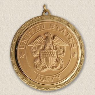Stock Military Medallion – United States Navy Design #3015-G