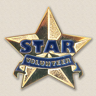 Stock Volunteer Lapel Pin – Star Design #8050