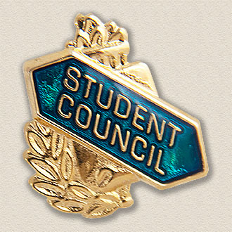Stock Education Lapel Pin – Student Council Design #8051