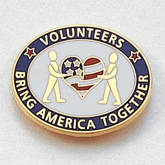 Volunteers Bring America Together Lapel Pin #CL-11