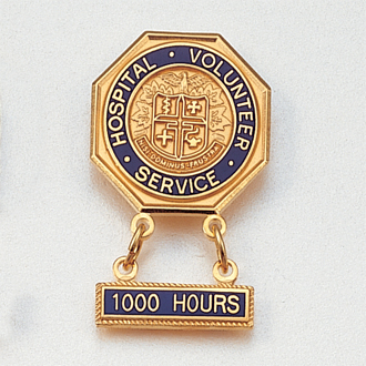 Hospital Volunteer Service Lapel Pin with Loops #101