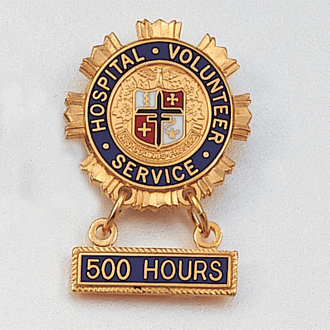 Hospital Volunteer Service Lapel Pin #106
