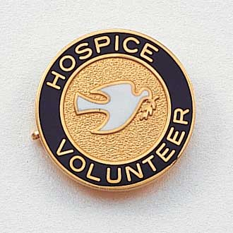 Stock Hospice Lapel Pin – Dove Design #162