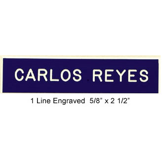 Engraved Name Bar Badge #1LN