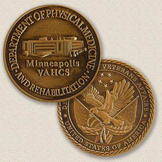 Custom Association Coin Medallion – Building Design #2004
