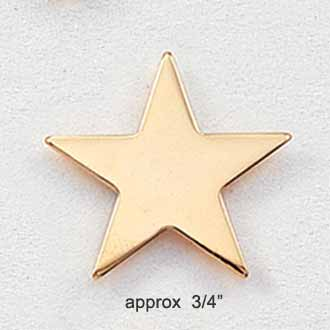 Stock Star Pin – Small Flat Star Style #205