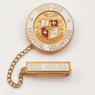 Teenage Hospital Volunteer Lapel Pin #209