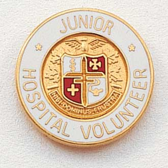 Junior Hospital Volunteer Lapel Pin #210