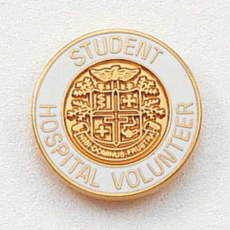 Student Hospital Volunteer Lapel Pin #215