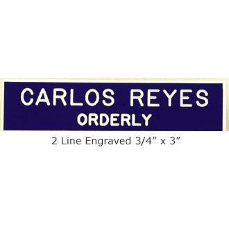 Engraved Name Bar Badge #2LN