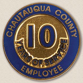 County of Chautauqua Years Service Lapel Pin #3001