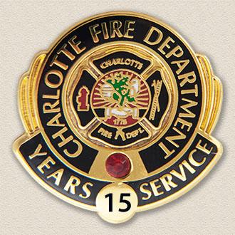 Custom Fire Department Pin – Badge Design #3016