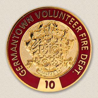 Custom Fire Department Pin – County Seal Design #3018
