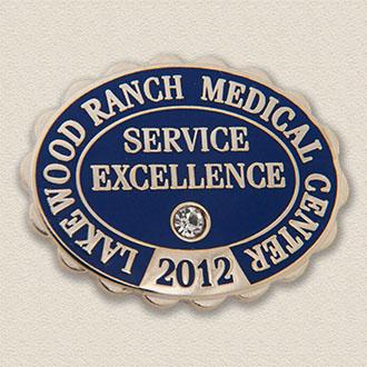 Custom Customer Service Lapel Pin – Excellence Design #4010