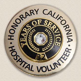 Custom Brooch – Honorary Volunteer Design #5006