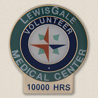 Custom Hours of Service Lapel Pin – Compass Design #5007