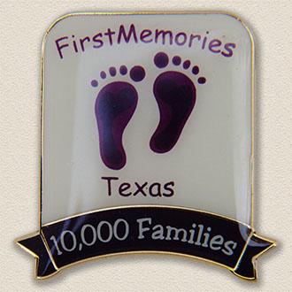 Custom Volunteer Pin – Footprint Design #5020