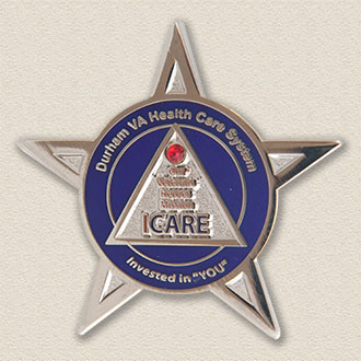Custom Healthcare Pin – Star Design #5027