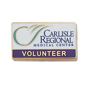 Custom Volunteer Lapel Pin – Hospital Logo Design #552