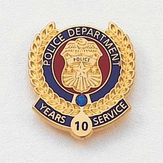 Stock Police Lapel Pin – Badge Design #625