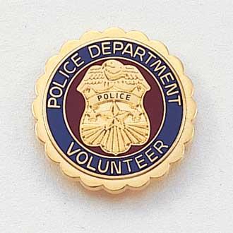 Stock Police Lapel Pin – Badge Design #626