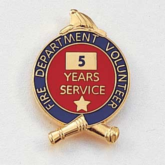 Fire Department Volunteer Years Service Lapel Pin #627