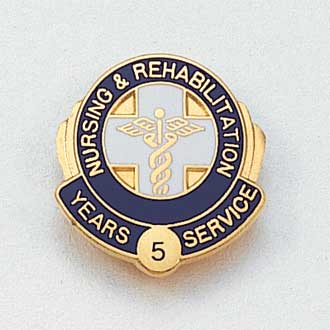 Nursing & Rehabilitation Years Service Lapel Pin #635