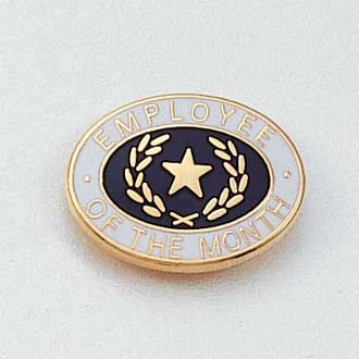 Stock Employee Lapel Pin – Star and Wreath Design #646