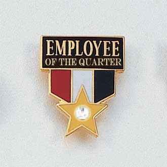 Employee of the Quarter with Gem Lapel Pin #673