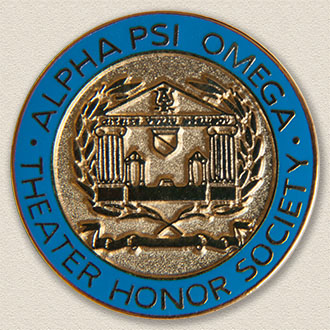 Alpha Psi Omega Theater Honor Society Lapel Pin #7011