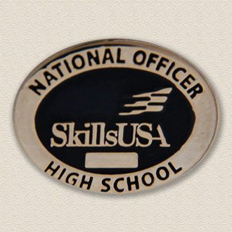 Custom School Pin – Skills Design #7027