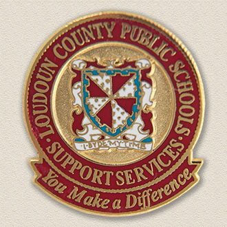 Custom School Pin – County Seal Design #7033