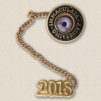 Custom College & University Lapel Pin – Gemstone Design #7036