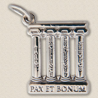 Custom Education Charm – Columns Design #7037