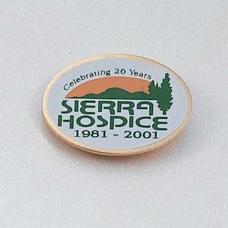Custom Screen Printed Lapel Pin #714