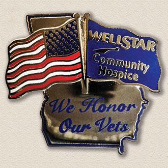 Wellstar Community Hospice Veterans Lapel Pin #8014