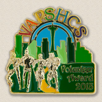 Custom Special Events Lapel Pin – Emerald City Design #8018