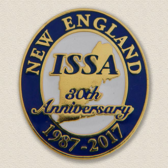 Custom Anniversary Lapel Pin – Map Design #8021