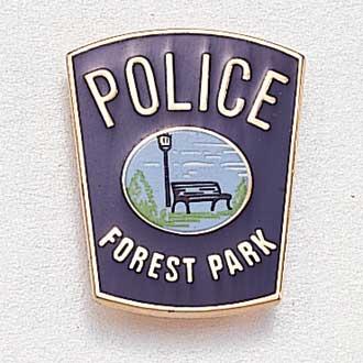 Custom Police Lapel Pin – Park Bench Design #849