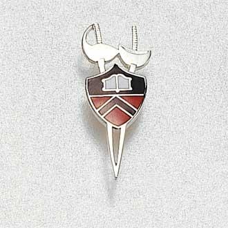 Custom College/University Lapel Pin – Fencing Design #858
