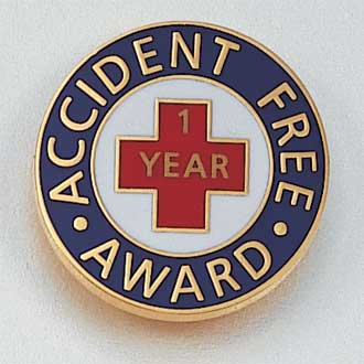 Accident Free Award Lapel Pin #867