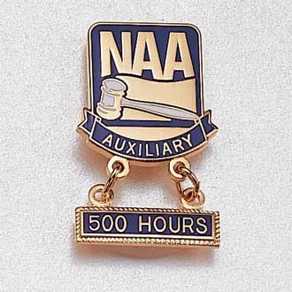 Custom Auxiliary Lapel Pin – Gavel Design #873