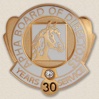 Custom Board Member Pin – Horse Design #9030