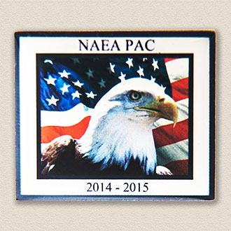 Custom Political Action Committee Pin – Eagle Design #9042