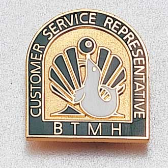 Custom Customer Service Lapel Pin – Hospital Logo Design #942