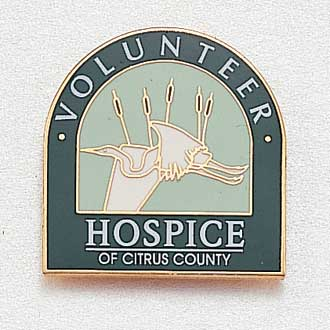 Custom Hospice Lapel Pin – Heron Design #965