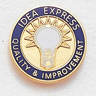 Custom Customer Service Lapel Pin – Light Bulb Design #966