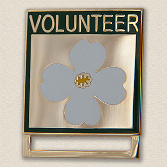 Stock ID Badge Holder – Flower Style #B-2