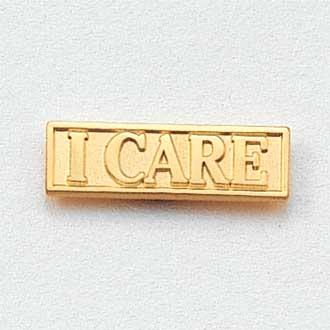 Stock I Care Lapel Pin – Rectangular Design #CL-6