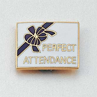 Perfect Attendance Lapel Pin #CL-7